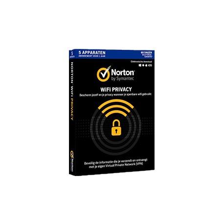 Norton WiFi Privacy 5-Devices 1 jaar
